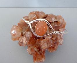 Bracelet  Œil demi-jonc pierre de lune