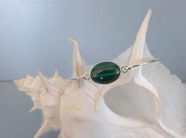 Bracelet demi-jonc malachite