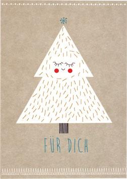 Postkarte Tannenbaum - Für Dich
