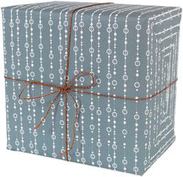 Geschenkpapier Perlen, blau (3 Bogen)