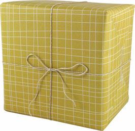 Geschenkpapier Pinselstriche, senf  (3 Bogen)