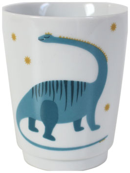 "Porzellanbecher ""Dino"", blau"