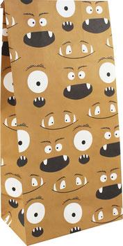 Geschenkpapier-Tüten Monster (Set mit 6 Stück)