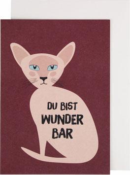 "Klappkarte Katze - ""Du bist wunderbar"""