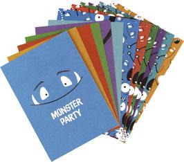 Einladungskarten-Set Monster (6 Karten)