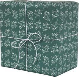 Geschenkpapier Beerenzweige, grün (3 Bogen)