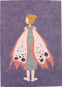 Postkarte Elfe, lila (ohne Text)