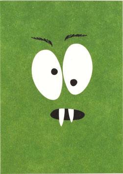 Postkarte Monster, grün