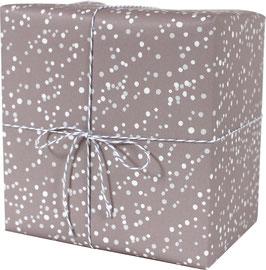 Geschenkpapier Schneeflocken, altrosa (3 Bogen)