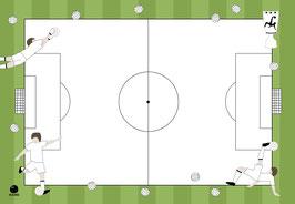 """Tischset- und Schreibunterlage """"Fussball"""", 25 Blatt"""
