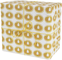 Geschenkpapier Löwe, gelb (3 Bogen)