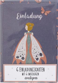 Einladungskarten-Set Elfe (6 Karten)