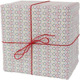 Geschenkpapier Sechsecke (3 Bogen)