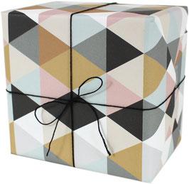Geschenkpapier Dreiecke (3 Bogen)