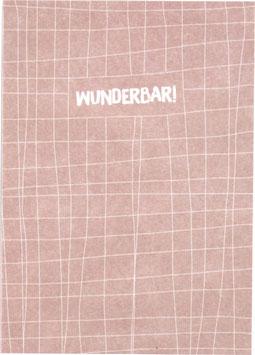 """Postkarte Fäden, rose/weiss - """"Wunderbar"""""""