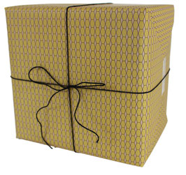 Geschenkpapier Sechsecke, nude (3 Bogen)