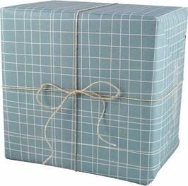 Geschenkpapier Pinselstriche, blau  (3 Bogen)