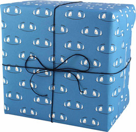 Geschenkpapier Monster, blau (3 Bogen)
