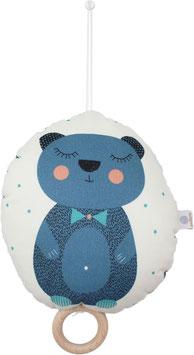 """Spieluhr """"Bär"""", blau (Melodie: """"Lullaby"""")"""