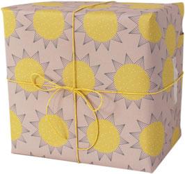 Geschenkpapier Sonne (3 Bogen)