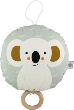Spieluhr Koalabär, weiss/mint (Melodie: Beautiful Dreamer)