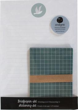 Briefpapier-Set Tauben (20 Bögen A4, 10 Umschläge C6)