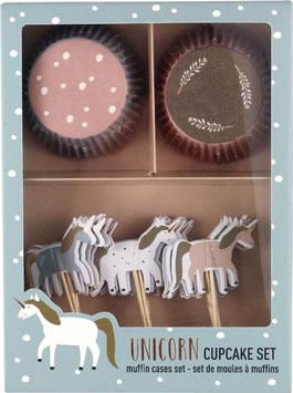 """Cupcake Set """"Einhorn"""""""