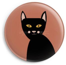 Magnet Katze, schwarz (32 mm)