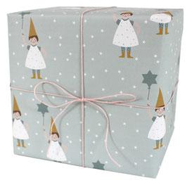 Geschenkpapier Wichtel mit Zauberstab (3 Bogen)