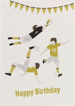 "Postkarte Fußball - ""Happy Birthday"""