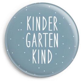 """Button """"Kindergartenkind"""", blau"""