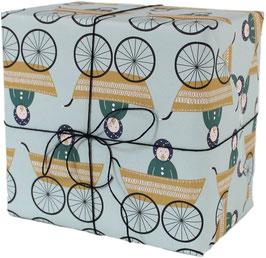 Geschenkpapier Kinderwagen, Junge (3 Bogen)