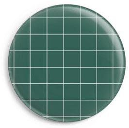Magnet kariert, grün (32 mm)