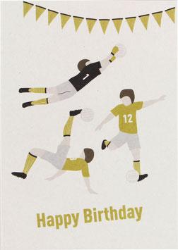 """Postkarte Fußball - """"Happy Birthday"""""""