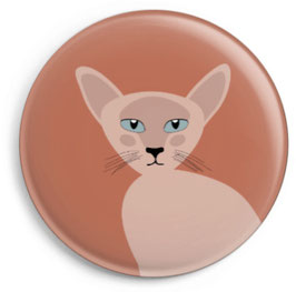 Magnet Siamkatze Dark rose (32 mm)