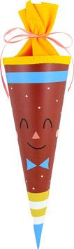 Schultüte Gesicht (35cm)
