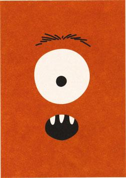 Postkarte Monster, rot