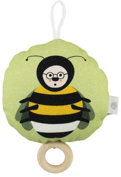 Brummer Hummel mit Brille, gelb/grün