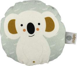 """Babyquietscher """"Koalabär"""", weiss/mint"""