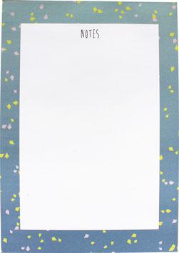Block Konfetti blau/gelb, 50 Blatt (DIN A5)