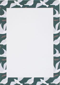 Block Tauben, grün (DIN A5)