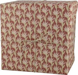Geschenkpapier Palmblätter klein, dunkles rosa (3 Bogen)