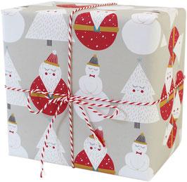 Geschenkpapier Weihnachtsmann (3 Bogen)