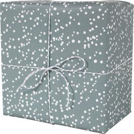 Geschenkpapier Schneeflocken, blau/grau (3 Bogen)