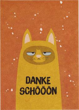 "Postkarte Kater, senf - ""Dankeschöön"""