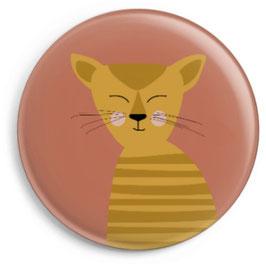 Magnet Katze gestreift, senf (32 mm)
