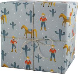 Geschenkpapier Cowboy mit Pferd (3 Bogen)