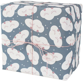 Geschenkpapier Wolke, blau (3 Bogen)