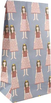 Geschenkpapier-Tüten Prinzessin (Set mit 6 Stück)