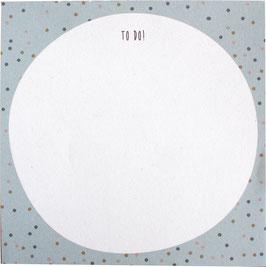 Block Konfetti petrol, 50 Blatt (9,8 x 9,8 cm)